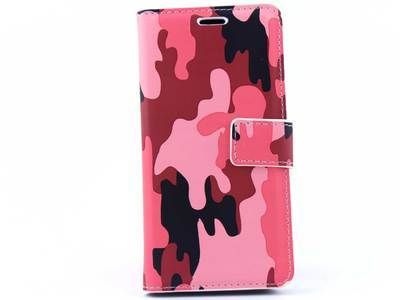 Samsung A3 2016 bookcase Camouflage Roze