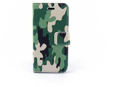 iPhone 7 (s) bookcase Camouflage Groen