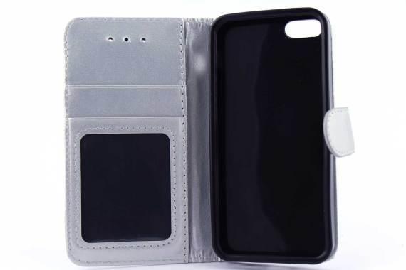 iPhone 5 (S) & C & SE bookcase Zilver