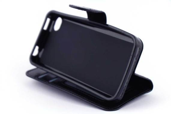 iPhone 4 (s) bookcase Zwart