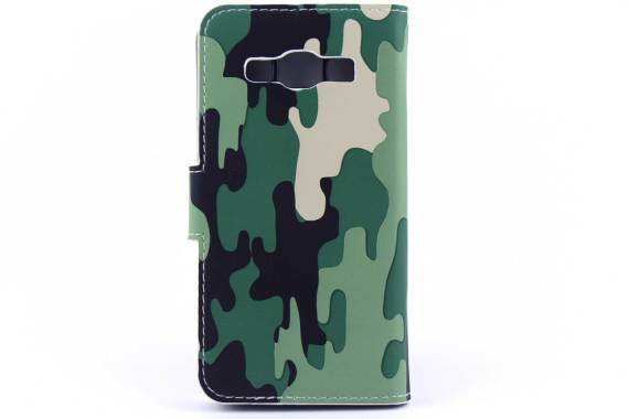 Samsung A3 bookcase Camouflage Groen