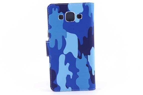Samsung A5 bookcase Camouflage Blauw