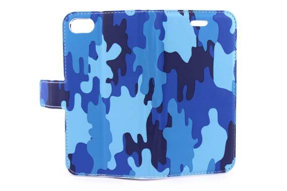 iPhone 7 (s) bookcase Camouflage Blauw