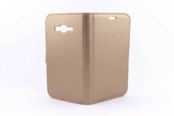 Samsung Galaxy J7 bookcase Goud