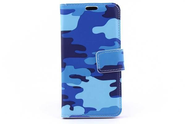 Samsung A3 bookcase Camouflage blauw