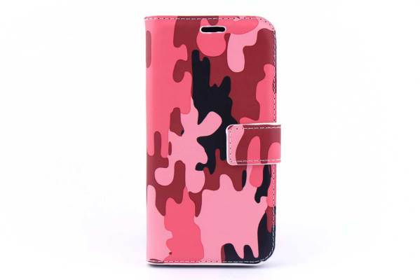 Samsung Galaxy J2 bookcase Camouflage Roze