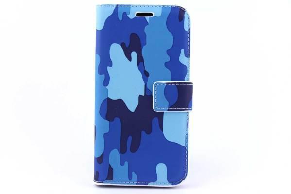 Samsung Galaxy J2 bookcase Camouflage Blauw