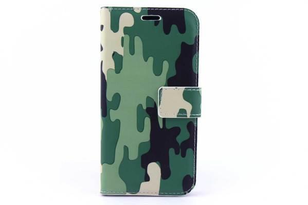 Samsung Galaxy J2 bookcase Camouflage Groen