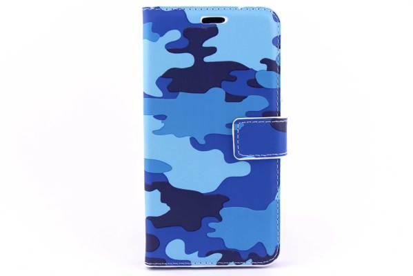 Samsung Galaxy J3 bookcase Camouflage Blauw