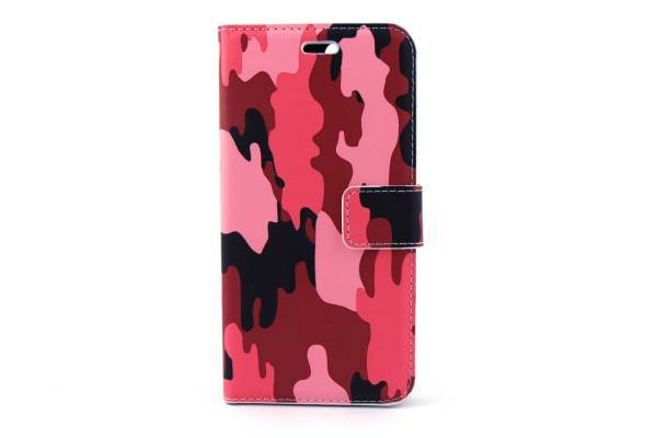 iPhone 7 (s) Plus bookcase Camouflage Rood