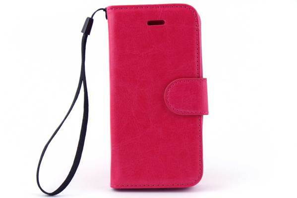 iPhone 5 (S) & C & SE bookcase Roze