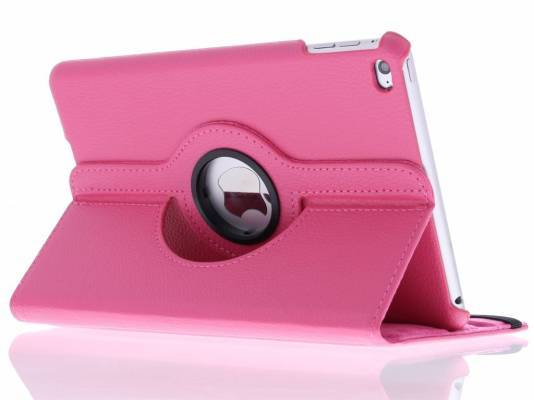 iPad Mini 4 360° draaibare tablethoes Roze